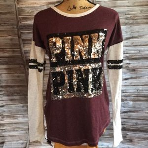 PINK long sleeve shirt.    M3